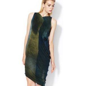Helmut Lang Asymmetrical Draped dress sz S